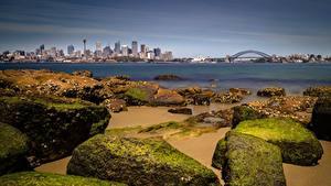 Pictures Coast Stones Bridges Australia Bay Sydney Cities