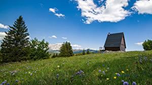 Hintergrundbilder Gebirge Sommer Frankreich Grünland Alpen Vercors Massif