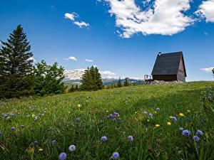 Hintergrundbilder Gebirge Sommer Frankreich Grünland Alpen Vercors Massif Natur