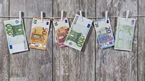 Fotos Geld Papiergeld Euro Bretter Wäscheklammer