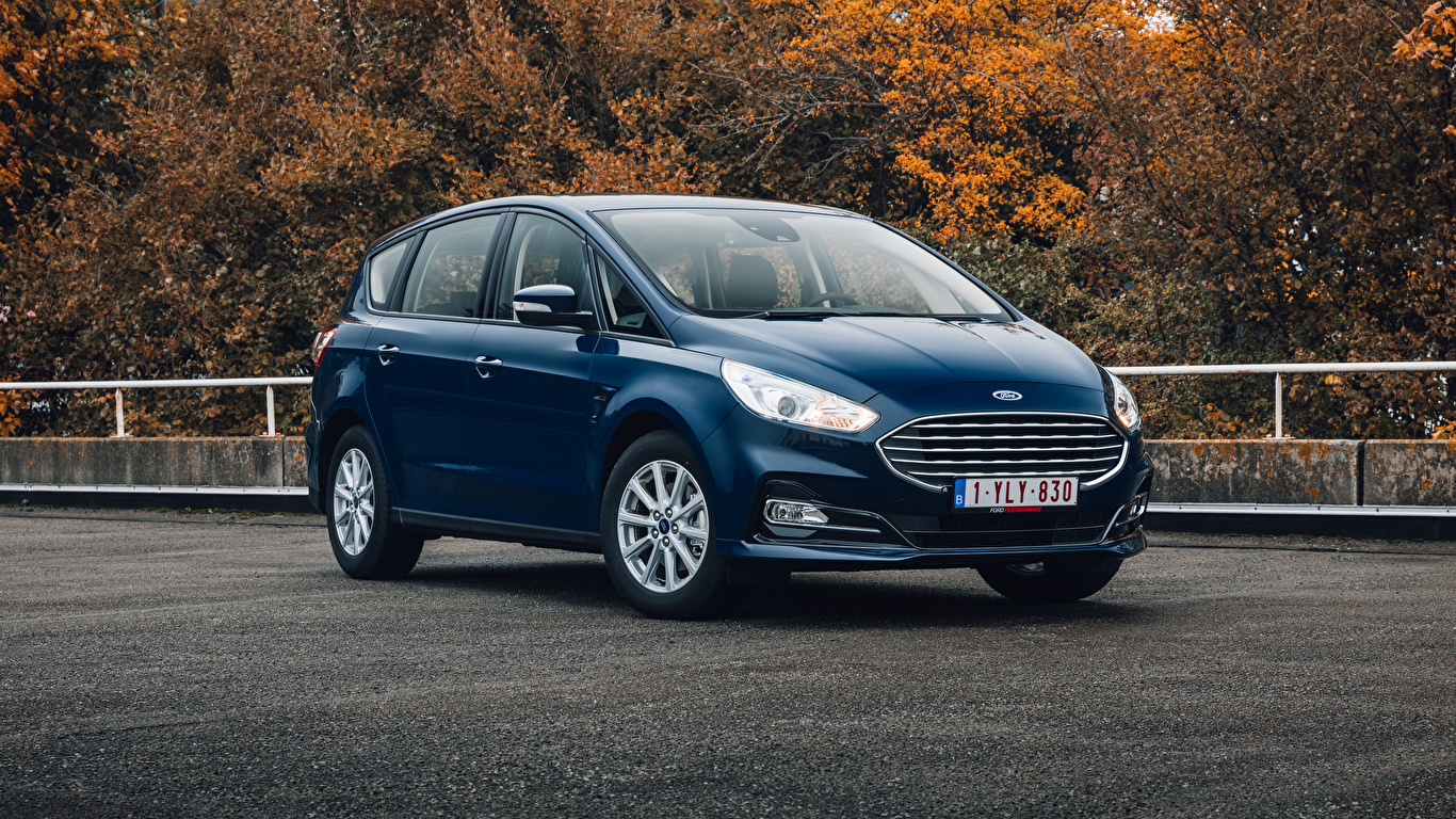 Foto Ford Kombi S-MAX, 2019-- Blau Autos Metallisch 1366x768 auto automobil