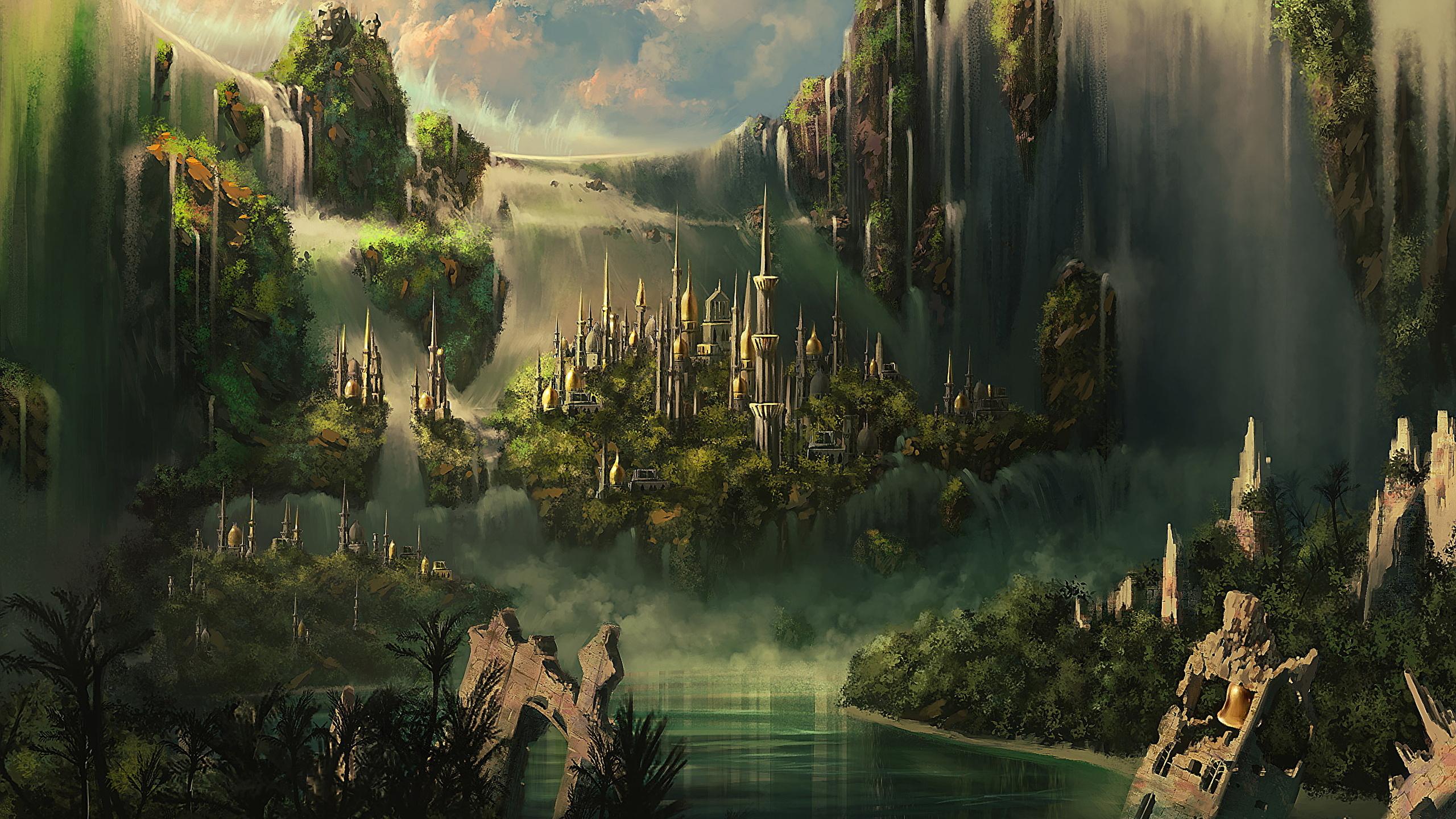 Wallpaper Fantasy Fantastic World 2560x1440