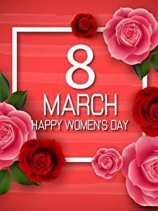 Papéis de parede Dia Internacional da Mulher Inglês Flores