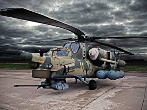 Hintergrundbilder Hubschrauber Russisches Mi-28N