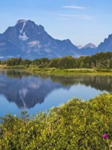Fotos Gebirge See Vereinigte Staaten Park Grand Teton National Park, Wyoming Natur