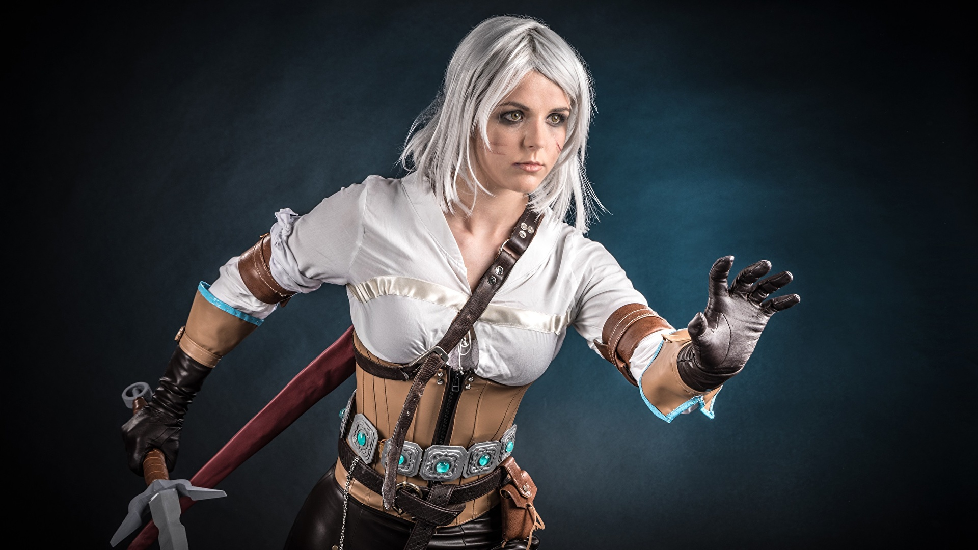 Images The Witcher 3 Wild Hunt Warriors Cosplay Ciri Or 1920x1080