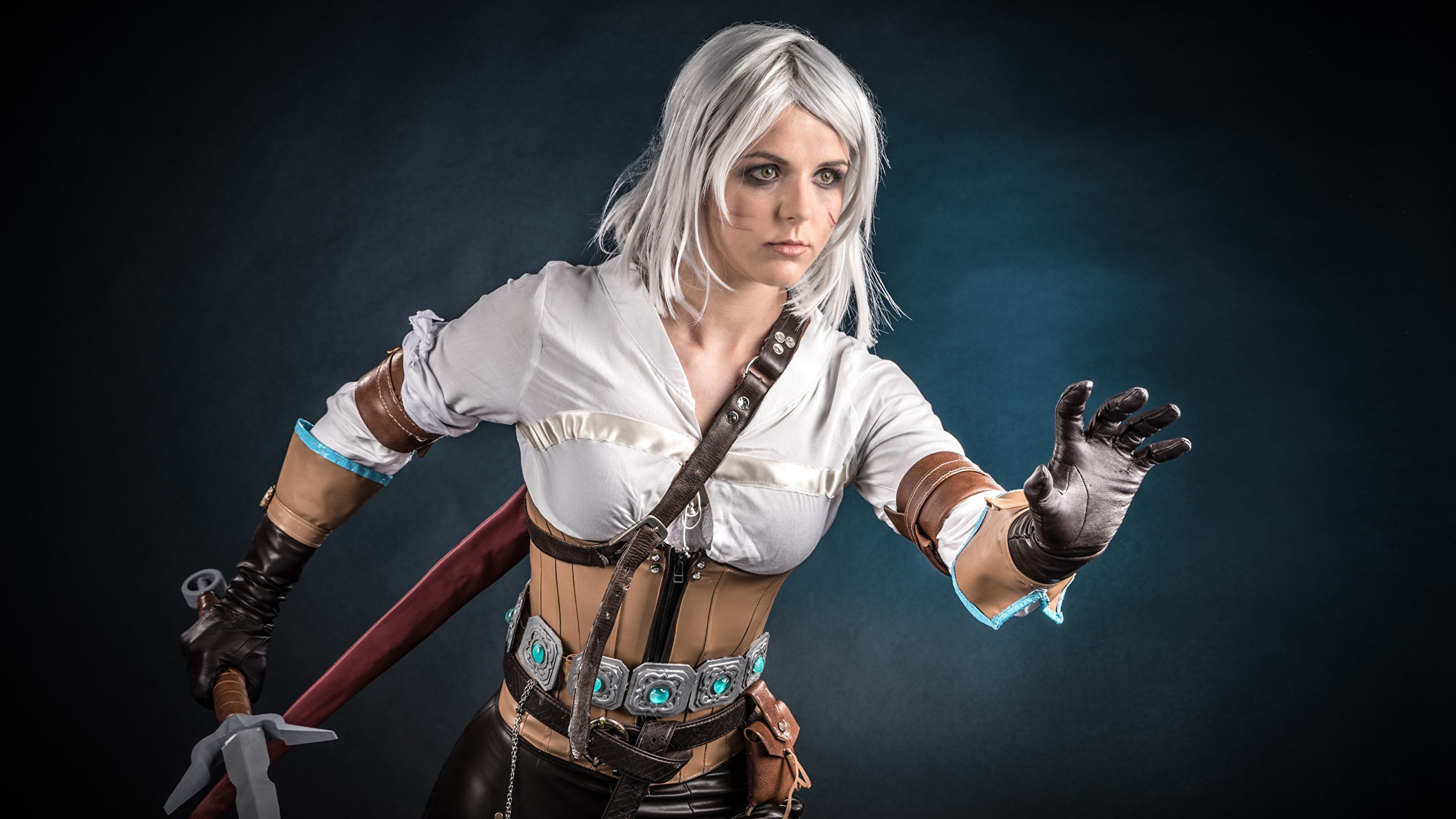 Images The Witcher 3 Wild Hunt Warriors Cosplay Ciri Or 2560x1440