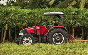 Hintergrundbilder Landwirtschaftlichen Maschinen Traktor Seitlich 2015-19 Case IH Farmall 90JXM
