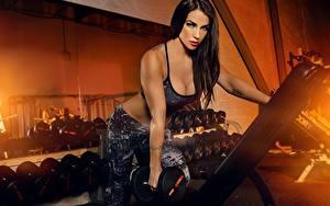 Bilder Fitness Model Hantel Trainieren Sport