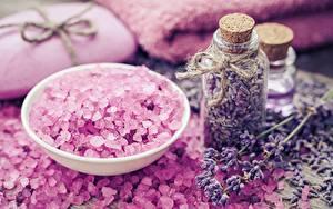 Fotos Lavendel Salz Einweckglas