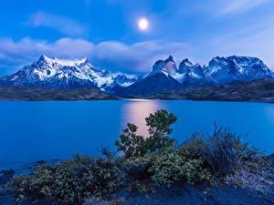Hintergrundbilder Chile Gebirge Flusse Himmel Landschaftsfotografie Hügel Sonne Torres del Paine