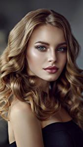 Hintergrundbilder Lockige Gesicht Haar Blick Schön Dunkelbraun Junge frau Mädchens