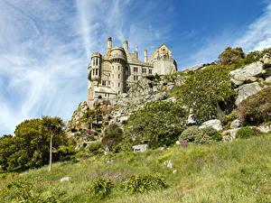 Fotos Frankreich Burg Gras St Michael's Mount
