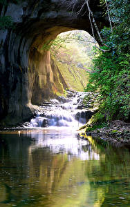 Fotos Japan Wasserfall Flusse Felsen Nomizo Falls Kimitsu Natur