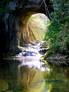 Fotos Japan Wasserfall Flusse Felsen Nomizo Falls Kimitsu