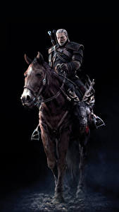Bilder The Witcher 3: Wild Hunt Geralt von Rivia Pferde 3D-Grafik
