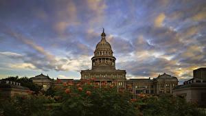 Bilder Vereinigte Staaten Gebäude Himmel Abend Texas State Capitol