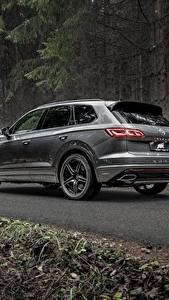 Desktop hintergrundbilder Volkswagen Grau Metallisch Softroader Touareg, ABT, R-Line, V8,TDI, 2019 automobil