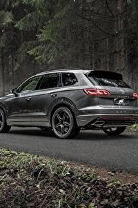 Bilder Volkswagen Grau Metallisch Softroader Touareg, ABT, R-Line, V8,TDI, 2019 automobil