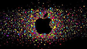 Hintergrundbilder Apple Logo Emblem Marke Kugeln