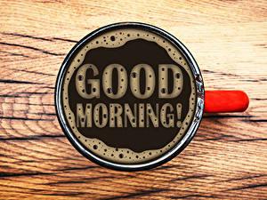 Bilder Kaffee Tasse Englisch Text Good Morning