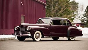 Hintergrundbilder Lincoln Antik Dunkelrote Metallisch 1942 Continental Coupe Autos