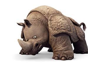 Hintergrundbilder Nashörner Weißer hintergrund Vincent Chambin, The Jungle Bunch : The Movie Tiere 3D-Grafik