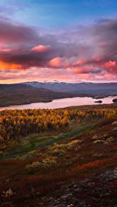 Fotos Landschaftsfotografie Herbst Himmel See Abend Wolke Hügel