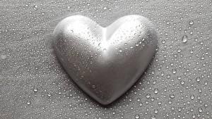 Papéis de parede Dia dos Namorados Cinza Coração Gota