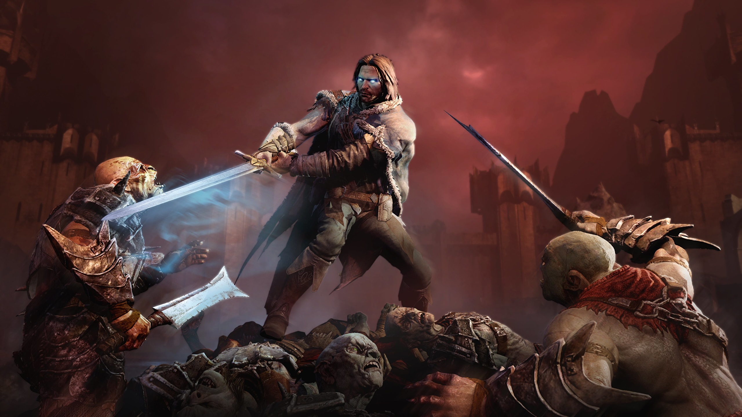 Photos Middle Earth Shadow Of Mordor Orc Swords Monsters 2560x1440