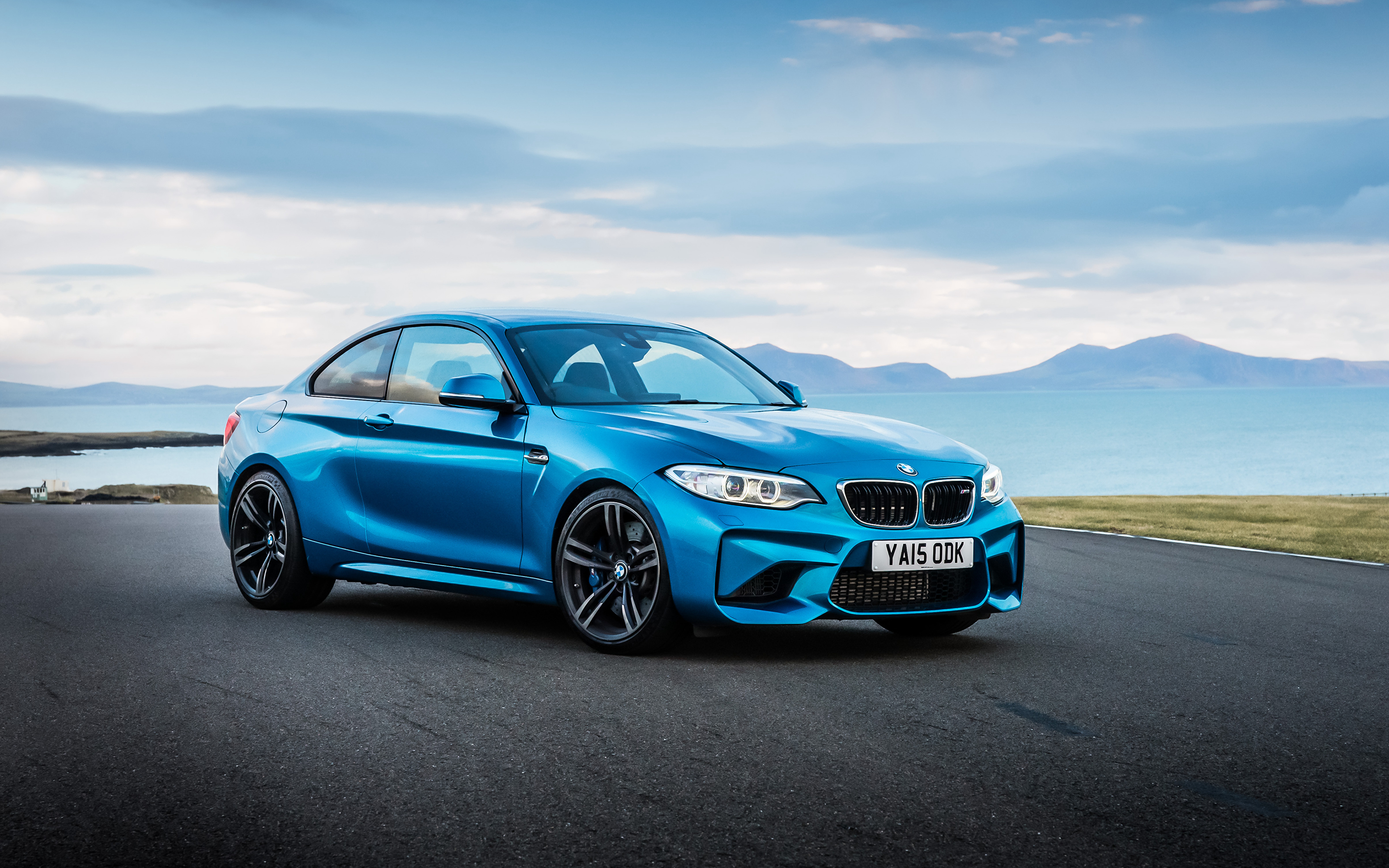 Picture BMW M2 Coupe F87 Light Blue Cars 3840x2400