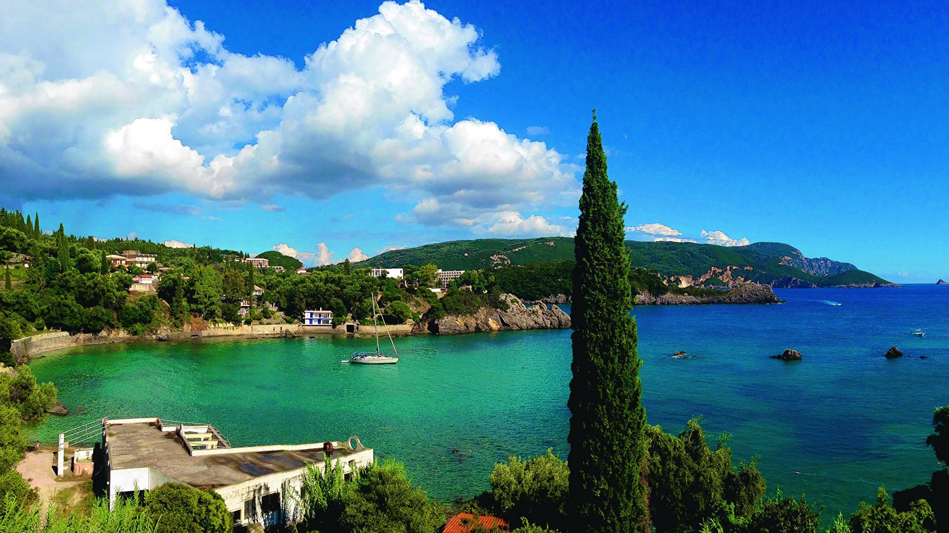 Sfondi Del Desktop Grecia Corfu Mare Natura Paesaggio La 1920x1080
