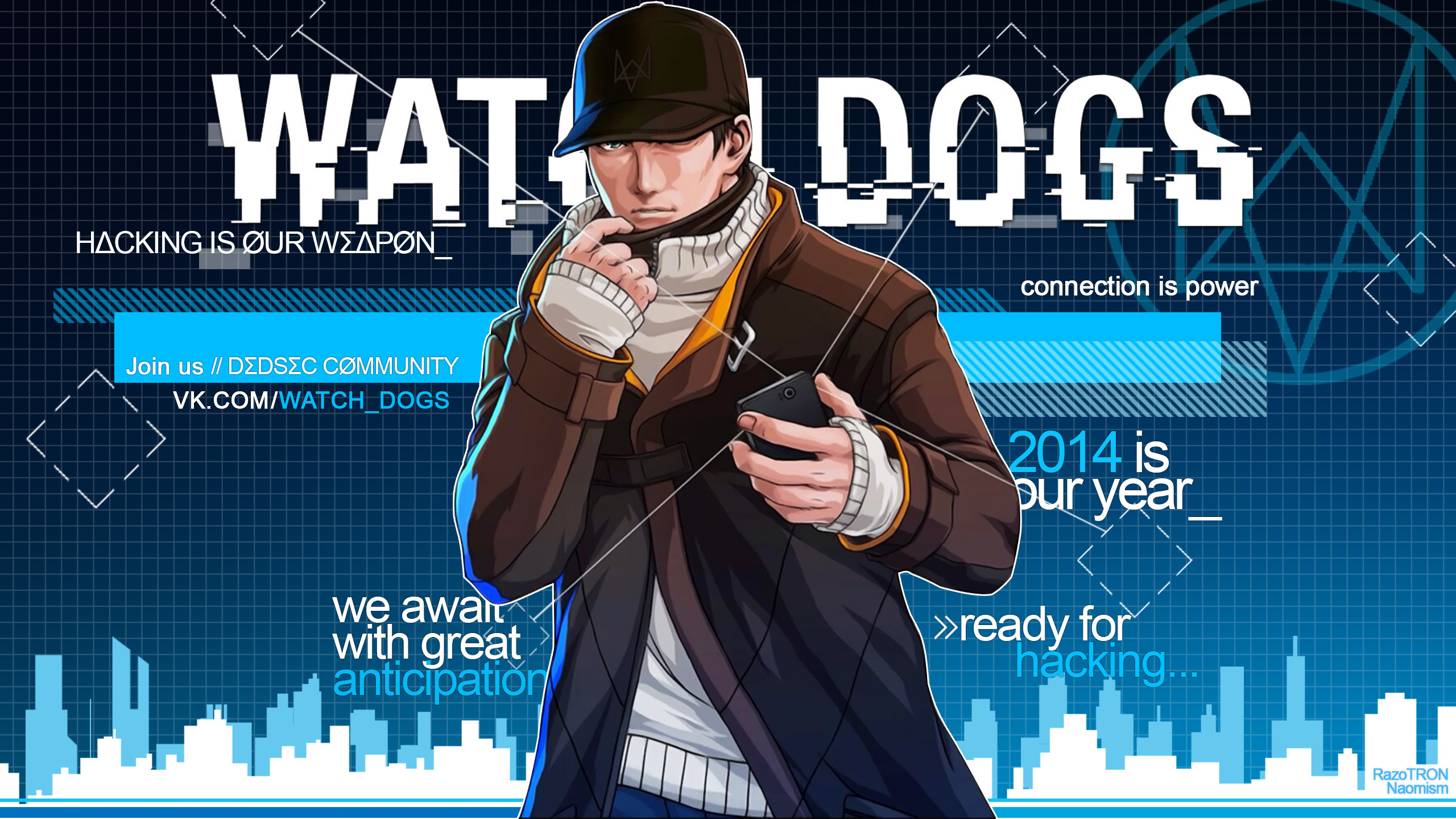 Fondos De Pantalla 2560x1440 Watch Dogs Varón Aiden Pearce