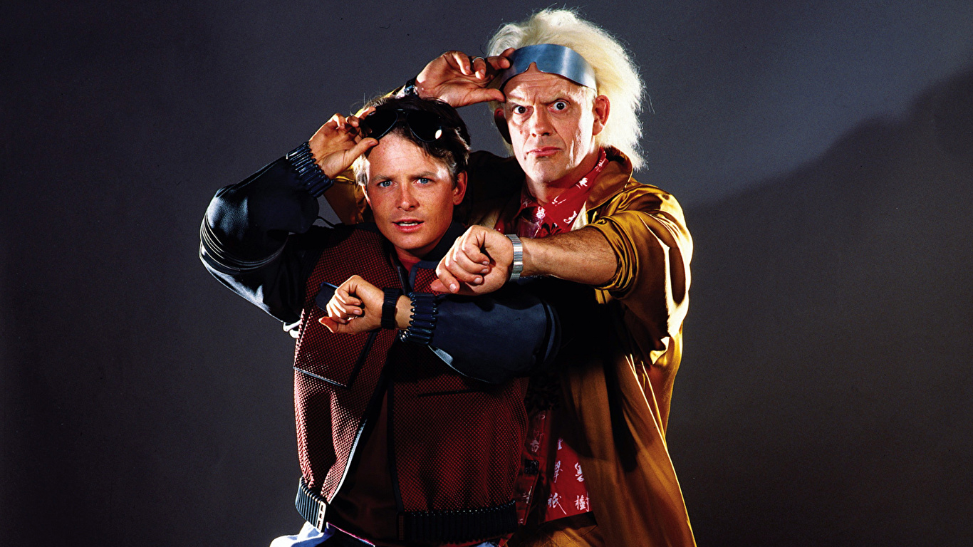 Desktop Wallpapers Back To The Future Men Film Glasses 1366x768