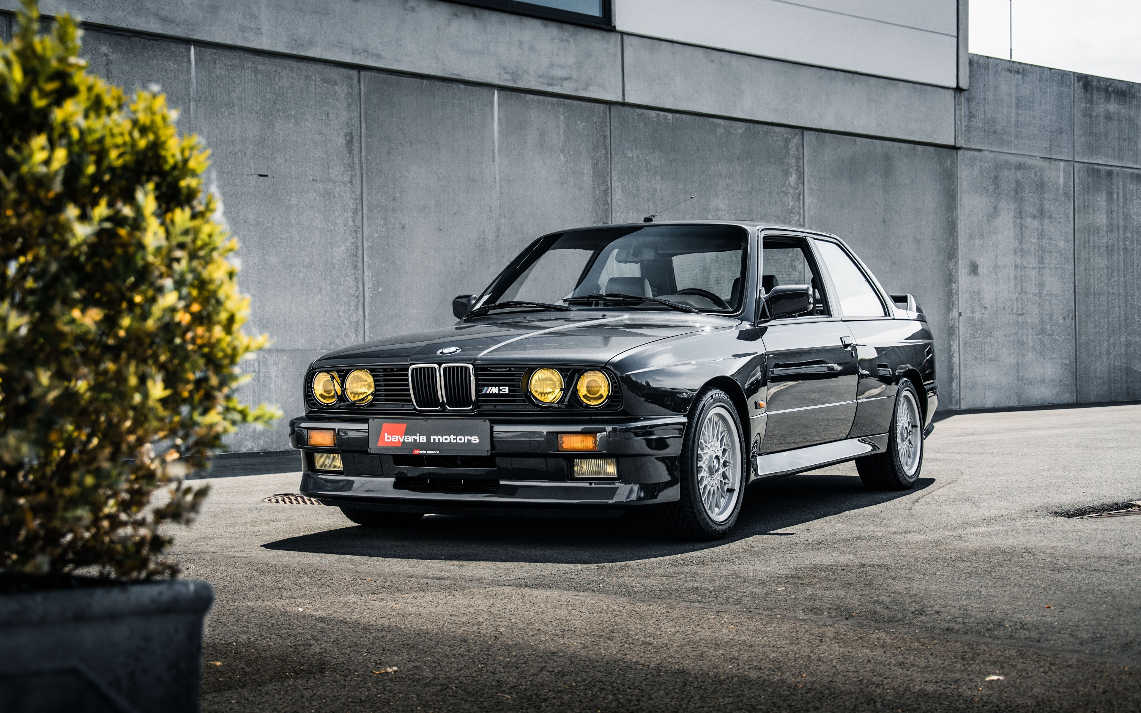 Desktop Wallpapers Bmw E30 3 Series M3 Coupe Black Cars 3840x2400