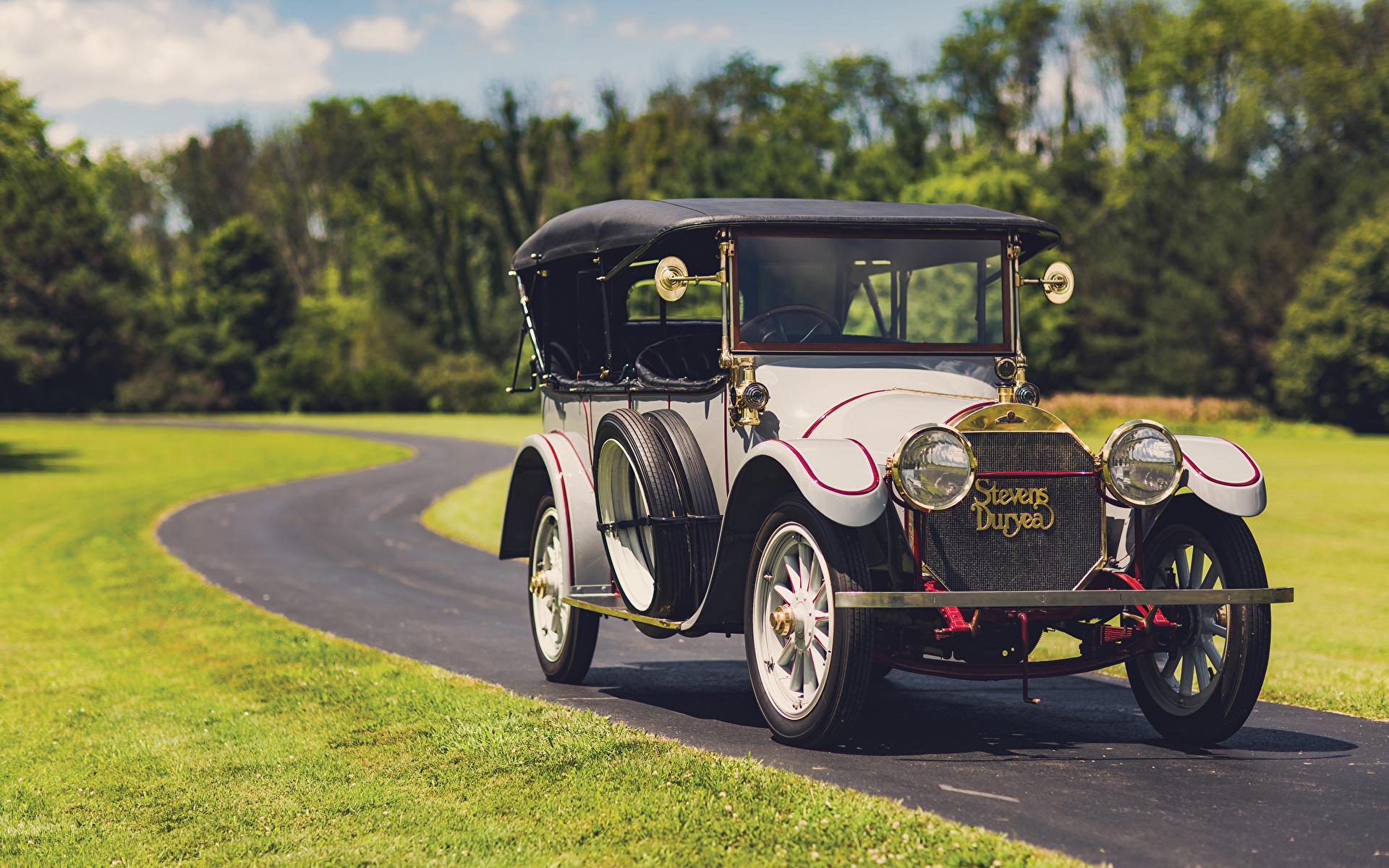 Desktop Wallpapers 1913 Stevens-Duryea Model C-Six 5-passenger Touring Retro automobile 1920x1200 vintage antique Cars auto