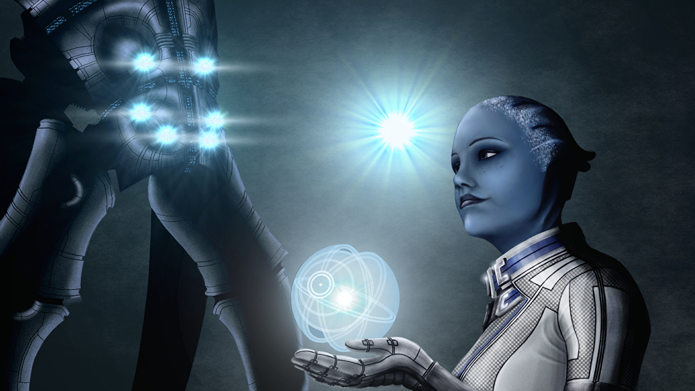 Image Liara Mass Effect Aliens T Soni Games 1366x768