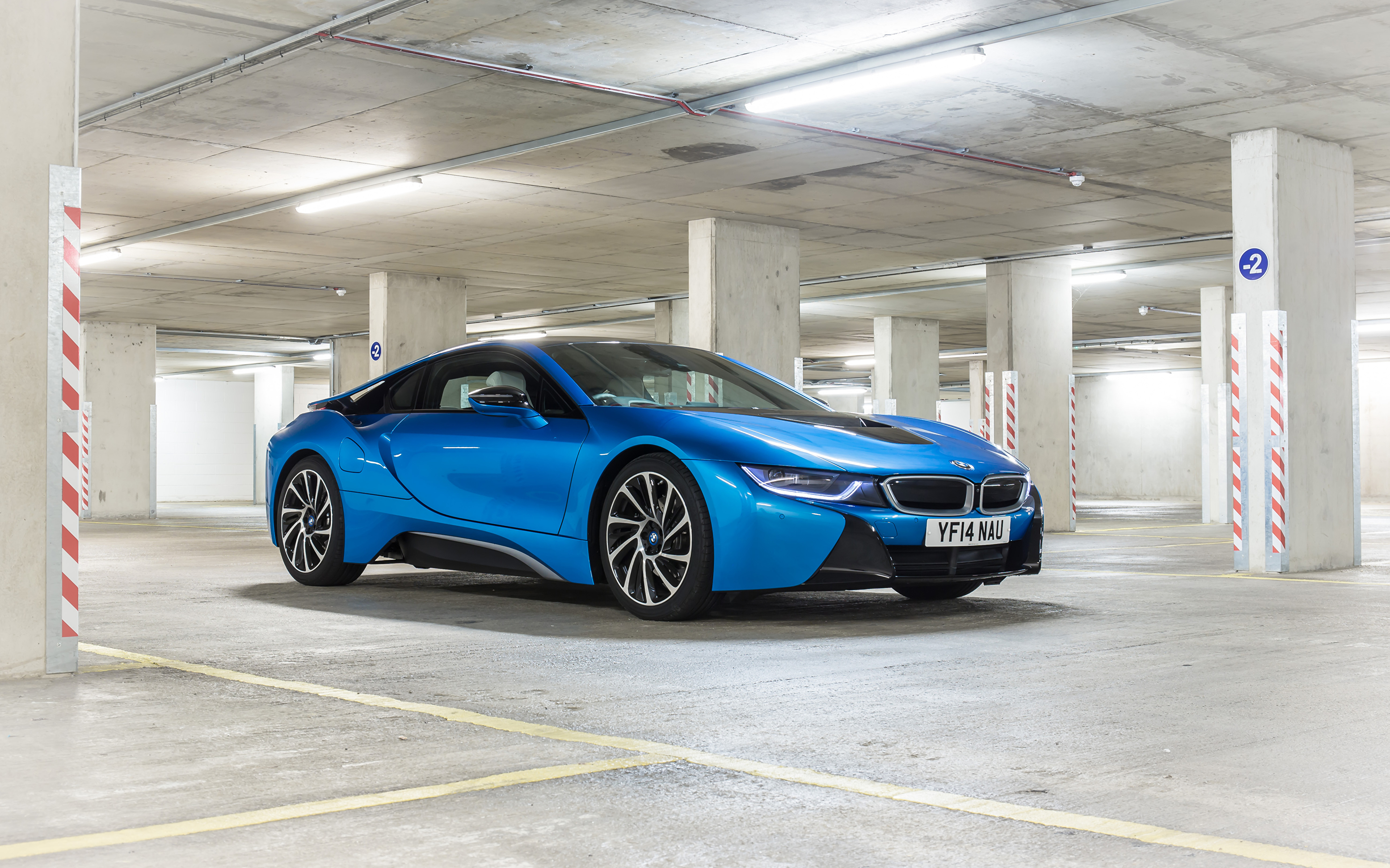 Pictures BMW 2014 i8 Light Blue automobile 3840x2400 Cars auto