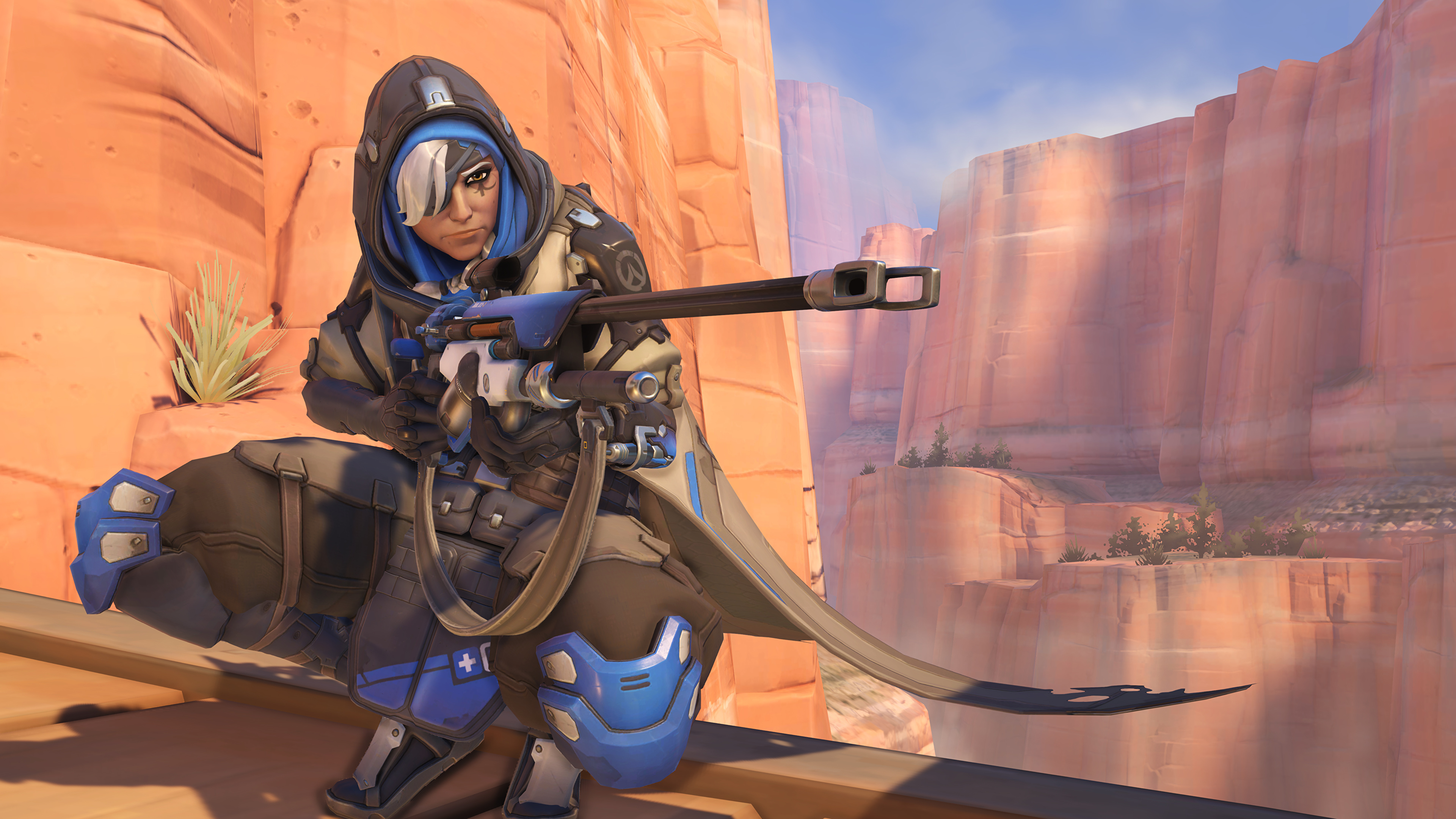 Wallpaper Overwatch Sniper Rifle Snipers Warrior Ana 3840x2160