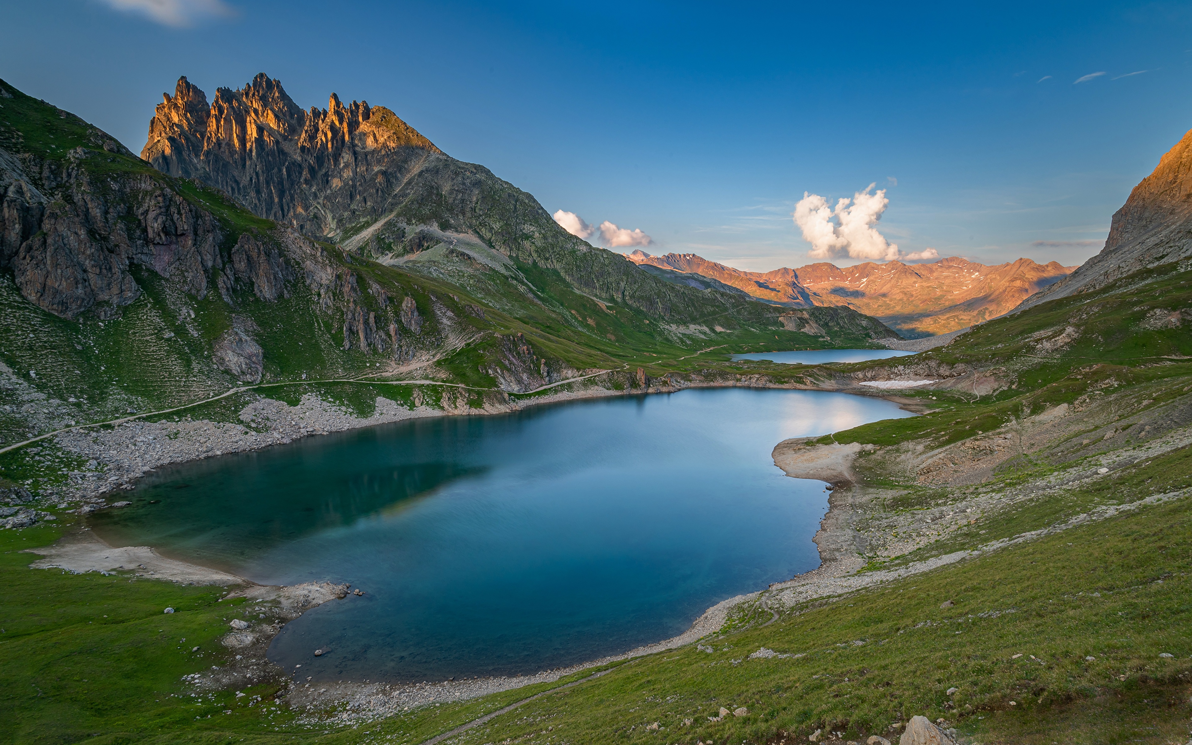 Photo Alps France Nature Mountain Lake 3840x2400