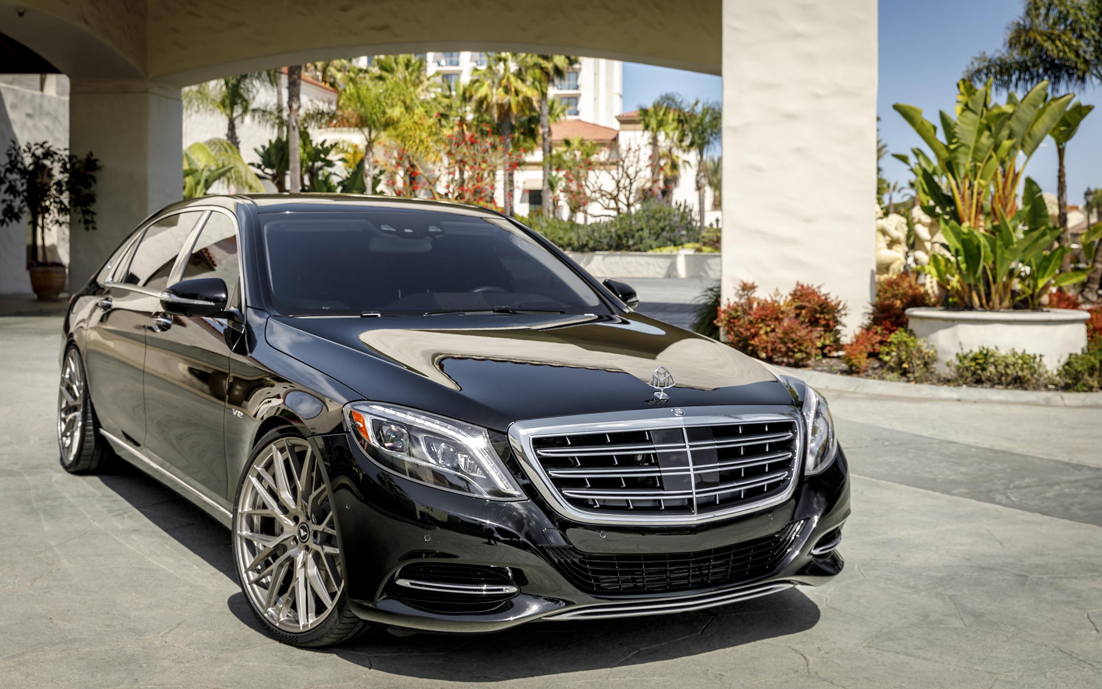 Desktop Wallpapers Mercedes-Benz Black Cars 3840x2400 auto automobile