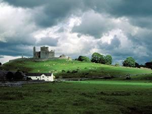 Papel de Parede Desktop Castelo Irlanda Ruínas
