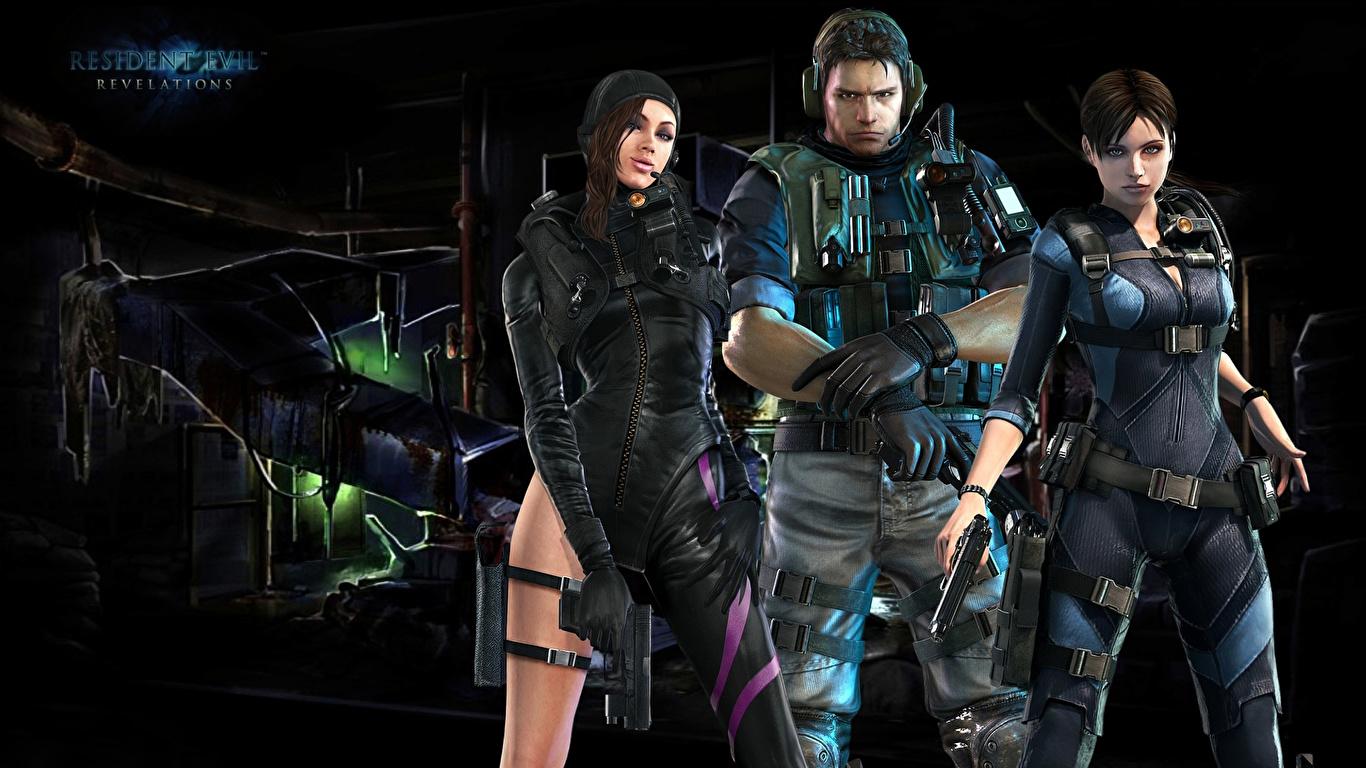 apariencia estética alta moda precio especial para Fondos de Pantalla 1366x768 Resident Evil Varón Soldados ...