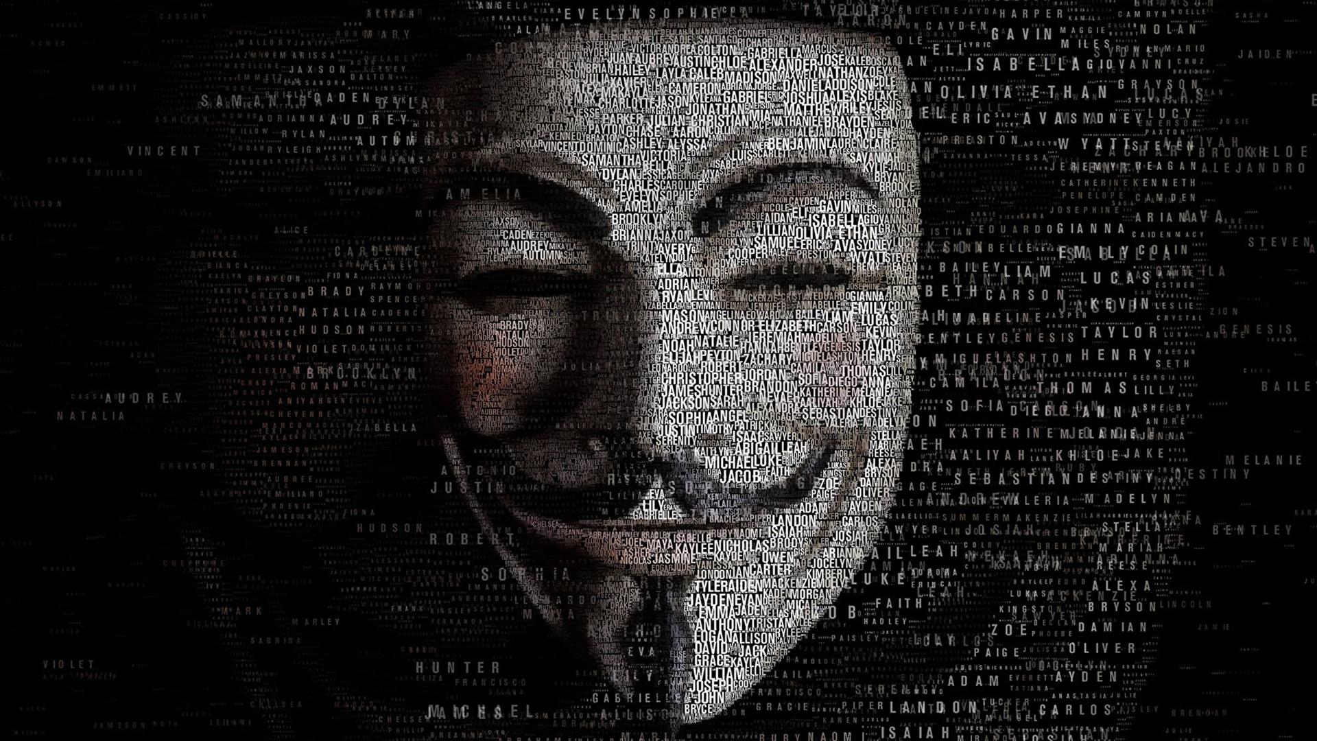 Photo V For Vendetta Movies Masks 1920x1080