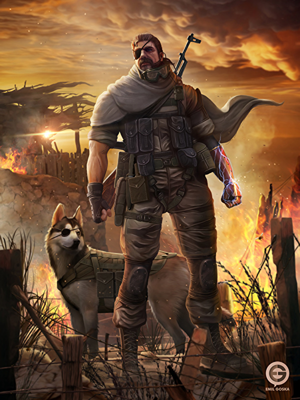 Image Metal Gear Dogs Man Warrior Eye Patch Solid V The 600x800