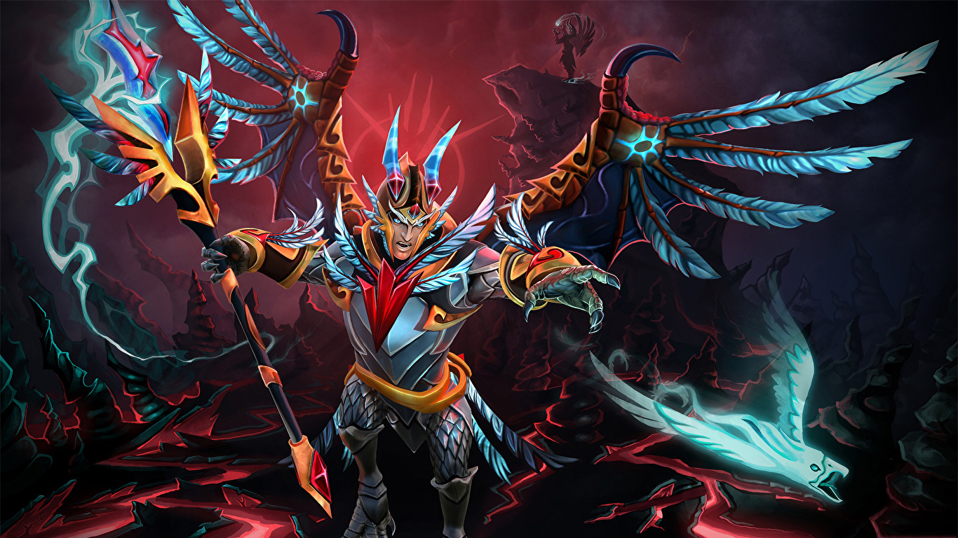 Desktop Wallpapers DOTA 2 Skywrath Mage Sorcery Mage Staff