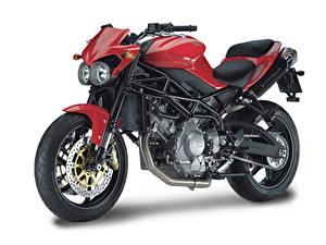 Hintergrundbilder Weißer hintergrund Seitlich 2007-21 Moto Morini Corsaro 1200 Veloce Motorrad