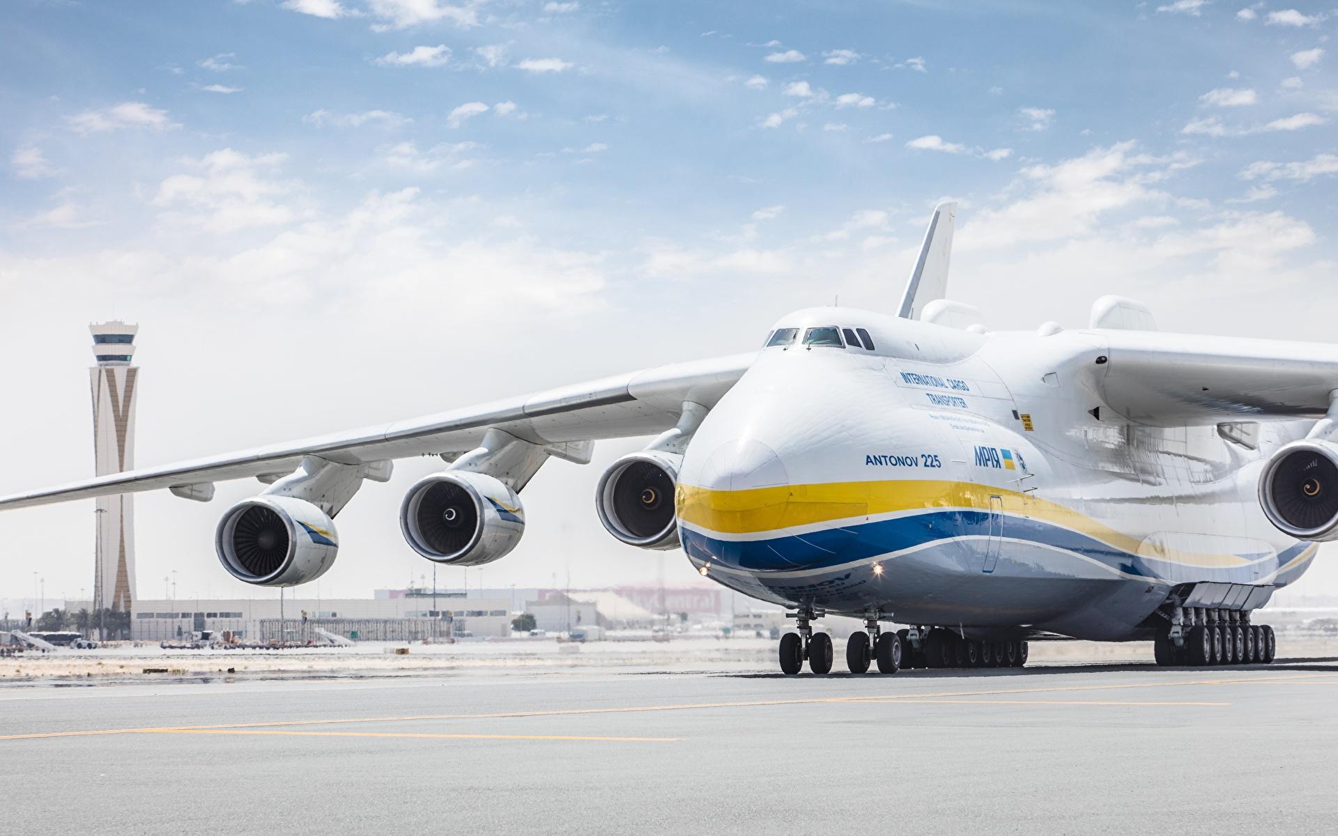 Bilder Flugzeuge Transportflugzeuge Russische An-225 Mriya Luftfahrt 1920x1200