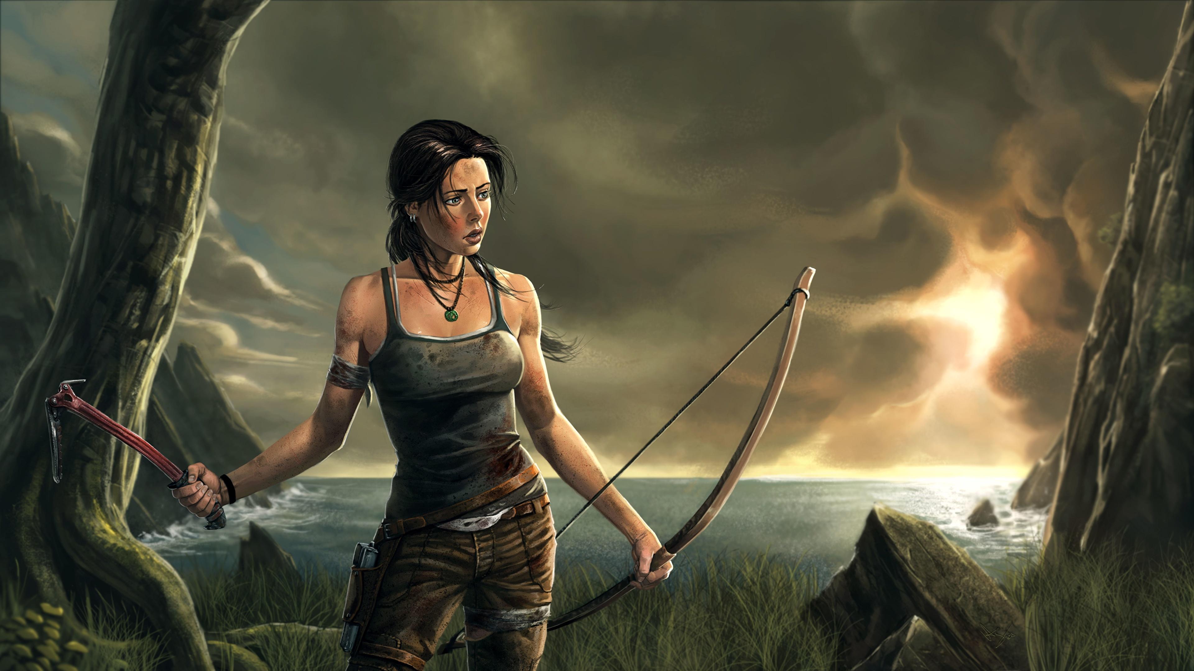 Photos Tomb Raider Tomb Raider 2013 Archers Lara Croft 3840x2160