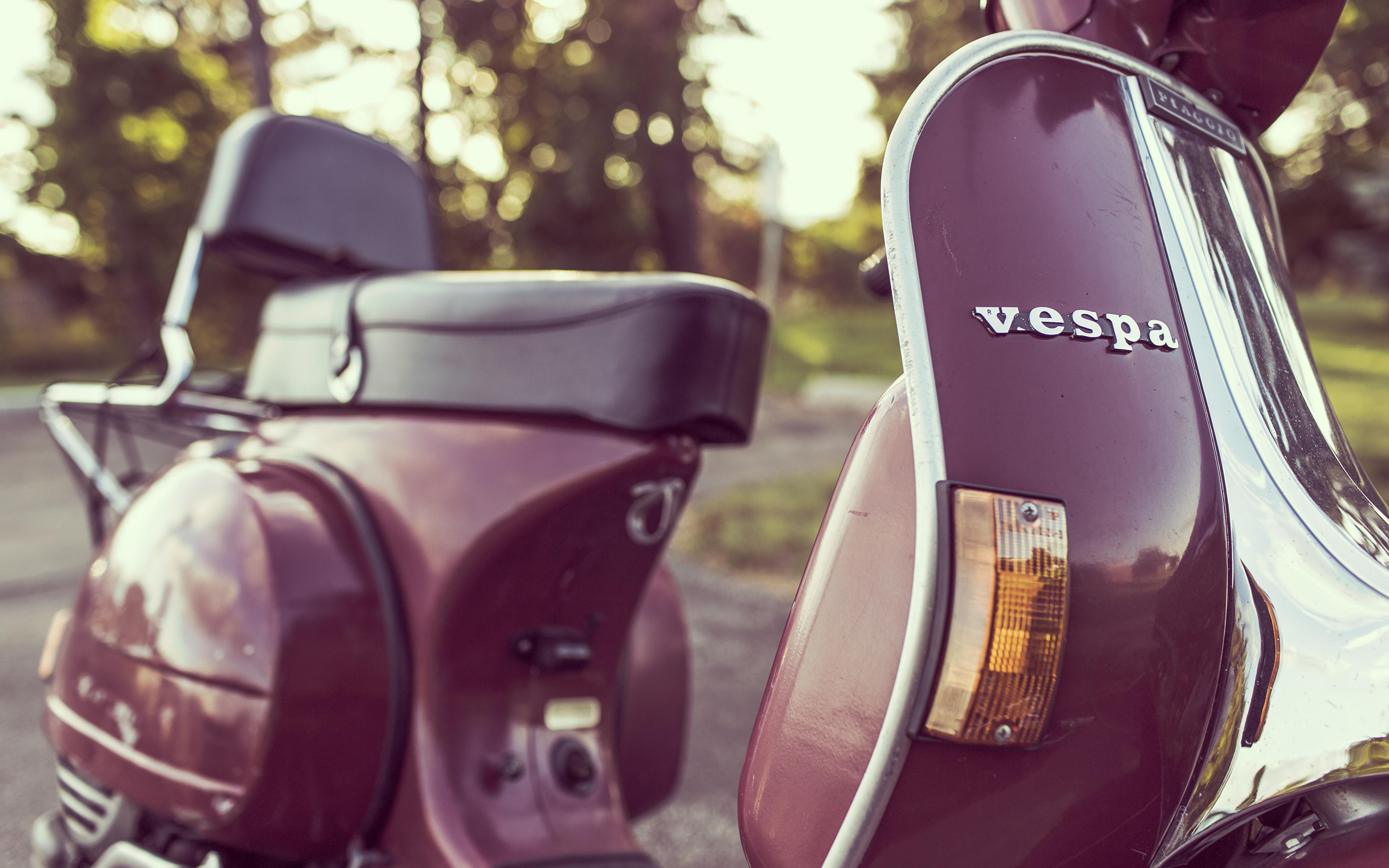 Desktop Wallpapers Vespa Antique Motorcycles Closeup 3840x2400